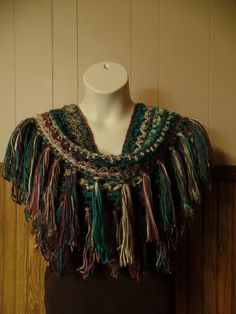 #Crochet Fringe Infinity Scarf Harriet Lace Stitch #TUTORIAL