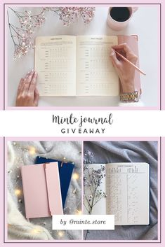 Click the photo and learn how to enter our giveaway! Win Minte bullet journal in color of your choice <3