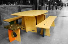Picnic Areas | Casual picnic areas were created for employees to have lunches and meetings.
