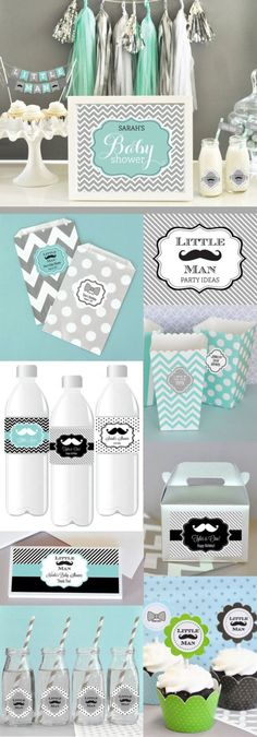 Mustache Baby Shower Decor Mustache Party Decorations by ModParty --- tipsalud. Fiesta Baby Shower, Baby Shower Table, Baby Shower Party Favors, Baby Shower Centerpieces, Baby Shower Cakes, Baby Boy Shower, Table Centerpieces, Mustache Party Decorations, Baby Shower Decorations For Boys