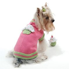 Oscar Newman Sprinkles Pet Sweater with Toy - $60.00