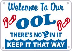 Welcome to our OOL notice there's no P in it by signlady4u on Etsy. $13.95 USD, via Etsy.