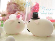 Lovely guinea pigs Wedding Cake Topper. $120.00, via Etsy.
