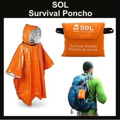 Emergency survival shelter products, blankets, bivvys, tarps, survival sleeping bags and items that are worn on your body. Shelter is one of the priorities of survival. Survival Kit Items, Survival Supplies, Survival Shelter, Survival Knife, Survival Tips, Survival Skills, Outdoor Survival Gear, Camping Survival, Camping Gear
