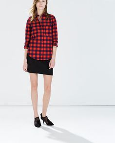 ZARA - WOMAN - CHECKED SHIRT WITH POCKET