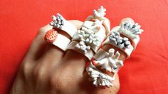 porcelain rings from effe's ceramics