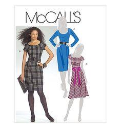M5466 - Misses' Dresses, Belt and Sash *OOP* but free on printsew.com