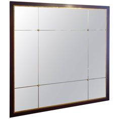 Square Barbara Barry Etched Glass Mirror 1