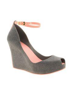 melissa patchuli iv greg pink flocked wedges plastic bubblegum heels @ trashy diva