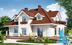 Proiectul de Casa de locuit cu parter,mansarda si garaj pentru un automobil cu terasa de vara contine toate compartimentele necesare pentru obtinerea autorizatiei de constructie Arhitec… Bungalow House Design, Small House Design, Modern House Design, Home Building Design, Building A House, House Construction Plan, Entry Hallway, Classic House, Design Case