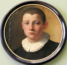 Angelo di Cosimo, dit Agnolo Bronzino, 1503 1572 portrait d'un jeune garçon, Bodemuseum Berlin Miniature Portraits, Miniature Paintings, Round Canvas, Berlin, Classic Portraits, Religious Pictures, Museum, Italian Painters, Caravaggio