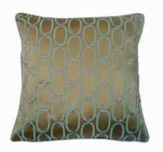 OVALS Pillow Cover in TAUPE / MINERAL 20 x 20 by SassieDecor