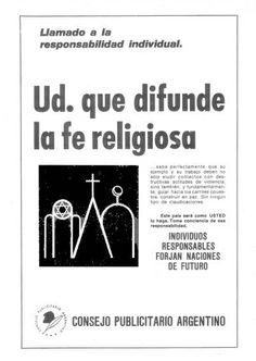 """""""Llamado a la responsabilidad individual 8""""-1970"""