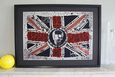 Laced Union Jack Diamante Embellished Artwork