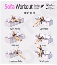 Quick and easy sofa ab workout #lose20poundsfasteasy