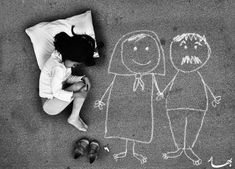 A photograph purportedly showing an orphan lying in a chalk outline of her absent mother has a very different backstory. Emotional Photography, Conceptual Photography, Children Photography, Poor Children, Precious Children, Beautiful Children, Graffiti, Deep Art, Kids Around The World