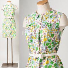 Vintage 60s Dress Vintage green dress by TrendyHipBuysVintage