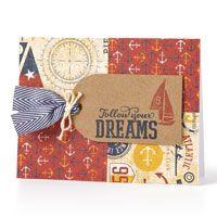 Paper Craft Magazine: Nautical Follow Your Dreams Card by Lynn Darda #Tommy