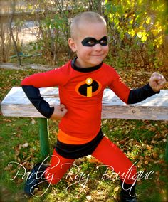 Parley Ray's The Incredibles Costume- Dash/ Mr. Incredible Super Suit for Play, Dress Up, Halloween. $100.00, via Etsy.