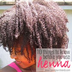 Pros and Cons of Henna on Natural Hair -- good to know tips. I checked it out. You should too if you're interested in using henna on your hair Lush Henna Hair Dye, Henna For Hair Growth, Henna Natural Hair, Henna Hair Color, Natural Hair Tips, Natural Hair Journey, Natural Hair Styles, Henna Hair Treatment, Hair Hacks