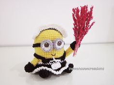 Ravelry: Amigurumi Frenchie the 2 eyed Minion in a French Maid Outfit pattern by Shannen C
