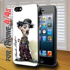 charlie chaplin cartoon character Black Case for iphone