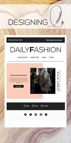 Daily Fashion Mailchimp Email Newsletter Template Pinterest - Daily newsletter template