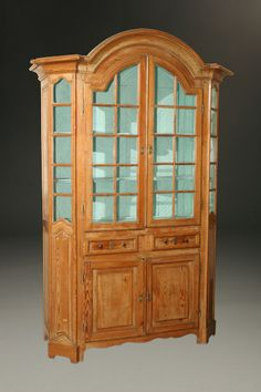 Did you know that a vitrine is a display cabinet? Learn more about the beautiful details of this piece and why they indicate high-quality craftsmanship on our blog: http://www.beauchampantiques.com/inventory/18th-century-pine-display-vitrine-from-limberg-region/ #antiques #vitrine #displaycabinet #furniture