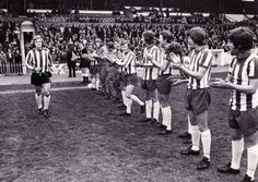 Alan Woodward Benefit Match at Bramall Lane - 9th May 1974 Sheffield United's Alan Woodward runs out onto the field to the applause of the Sheffield Wednesday players and the crowd