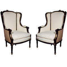 Two Tone French Wing Chair | Furniture | Pinterest | Upholstery, Apartment  Ideas And Room
