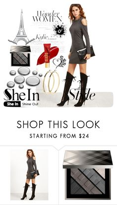 """shein"" by nizama-bojic-husejnbasic ❤ liked on Polyvore featuring Burberry and Pieces"
