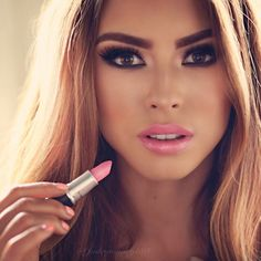 soft pink lipstick