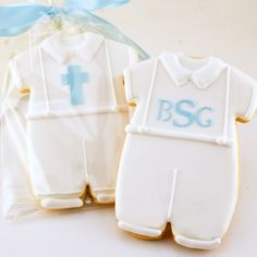 Boy Baptism Cookies Outfit 12 Favors Gift Bagged and by TSCookies, $33.00