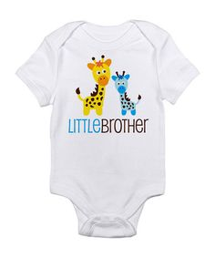 Take a look at this Cloud White & Blue 'Little Brother' Bodysuit - Infant by CafePress on #zulily today!