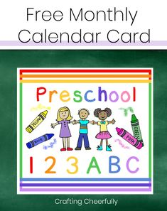 Create a DIY Children's Calendar with these free printables for days of the week, months, weather and daily activities. 2017 calendar pages available. Free Monthly Calendar, Calendar Time, Calendar Pages, 2021 Calendar, Visual Schedule Preschool, Preschool Special Education, Visual Schedules, Folder Games, File Folder