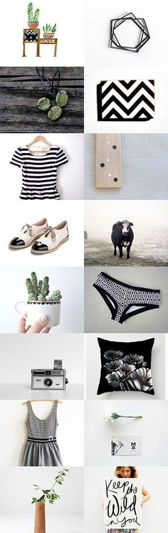 Black and White and Green all over :) by Angela Curtis on Etsy--Pinned with TreasuryPin.com