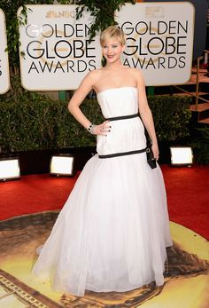 Jennifer Lawrence in black + white Dior, not really up to her usual standards but she still looks great!