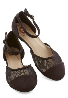$34.99 Counting Fireflies Flat - Flat, Lace, Black, Solid, Lace, Party, Good