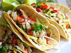 Tequila-Glazed Fish Tacos with Fresh Avocado Salsa Recipe