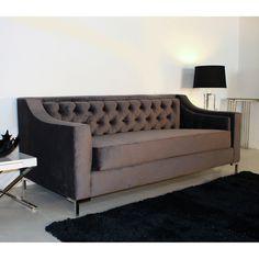 Decenni Custom Furniture 'Taglia' Cosmic Grey Velvet Tufted 6-foot Loveseat - Overstock™ Shopping - The Best Prices on Decenni Custom Furniture Sofas & Loveseats
