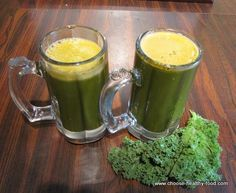 I want to try this one. Helps nails and bones, detox body, boost immune system, protects skin, eyesight and helps you loose weight! Get me some kale!    Kale Juice    3 Medium Carrots  1 Medium Big Apple  2 Stalk Celery  3 cups of kale    Makes 4 portions