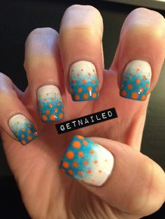 #gradient #polkadots #nails