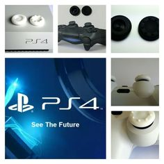 ps4 thumb grip caps pro concave PlayStation 4 gaming New Glacier white Aussie Seller