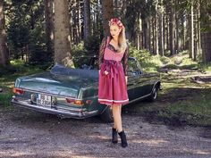 Vintage Mercedes Benz, Vintage, Curves, Posters, Dresses, Fashion, Photos, Vestidos, Moda