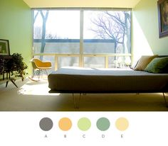 nice wall color for the home office. Dream Bedroom, Master Bedroom, Bedroom Decor, Green Rooms, Green Walls, Big Windows, Room Paint, Color Inspiration, Color Schemes