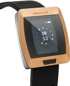 "Being. Tracks mood, heart rate, activity (steps, distance, speed), calories, sleep.  ""Maps your mood."" 3-D accelerometer, optical sensor, Bluetooth, water resistant. From Zensorium"