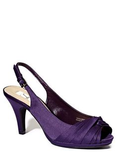 875a4a4433ad Grape Occasion Twist Front Peep Toe Sling Court Shoes