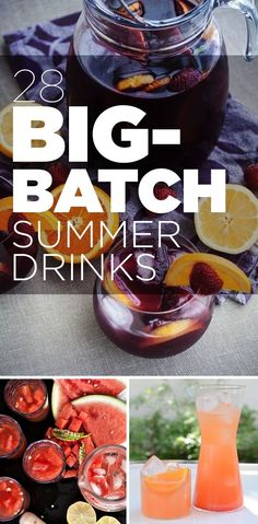All Recipes.Net: Recipes And Ingredients For 28 Big Batch Summer Drinks. Love it!!!