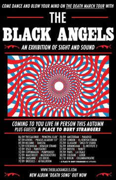 Last.fm concert page for The Black Angels at Muziekgieterij (Maastricht) on Sept. 15, 2017. Discuss the gig, get concert tickets, see who's attending, find similar events.