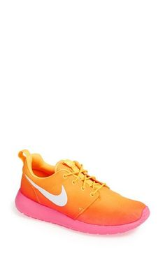 Nike  Roshe Run  Print Sneaker (Women) available at  Nordstrom Running Shoes 1b48a5d912